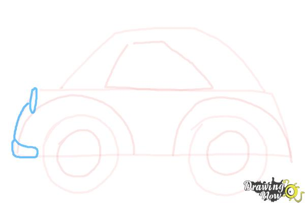 How to Draw a Simple Car - Step 5