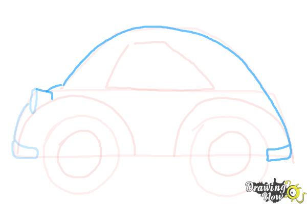 How to Draw a Simple Car - Step 6