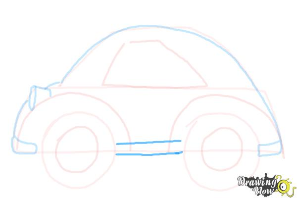 How to Draw a Simple Car - Step 7