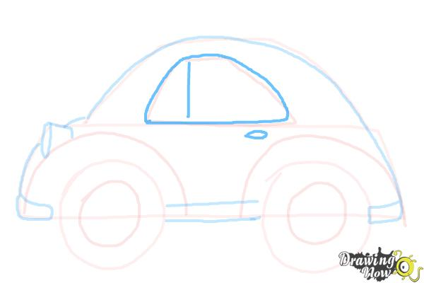 How to Draw a Simple Car - Step 8