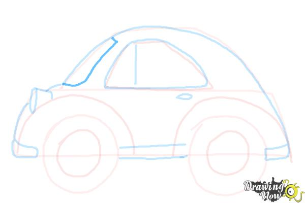 How to Draw a Simple Car - Step 9