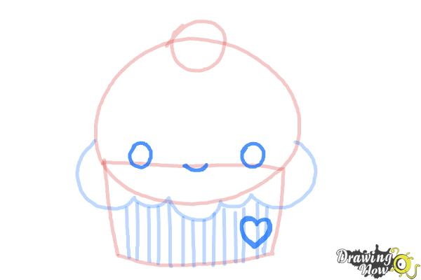 How to Draw a Cute Cupcake - Step 5