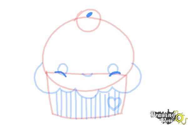 How to Draw a Cute Cupcake - Step 6