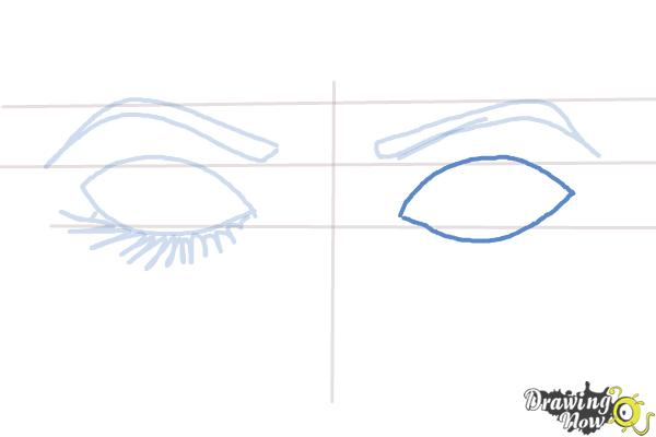 How to Draw Closed Eyes - Step 5