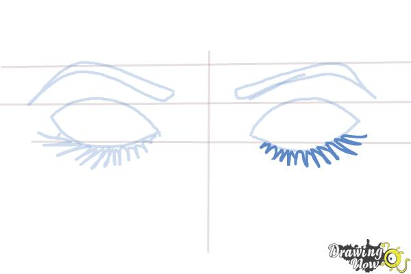 How to Draw Closed Eyes - Step 6
