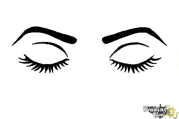 How to Draw Closed Eyes - Step 7