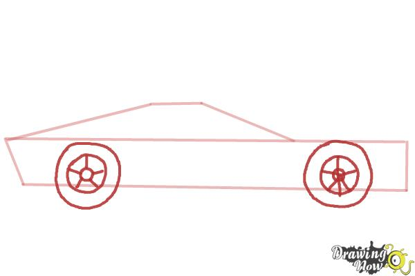 How to Draw a Sports Car - Step 3