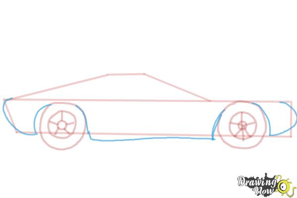 How to Draw a Sports Car - Step 4