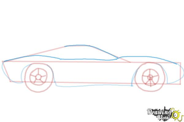 How to Draw a Sports Car - Step 5