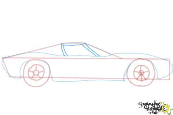 How to Draw a Sports Car - Step 6