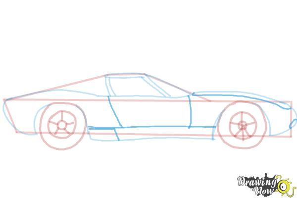 How to Draw a Sports Car - Step 7