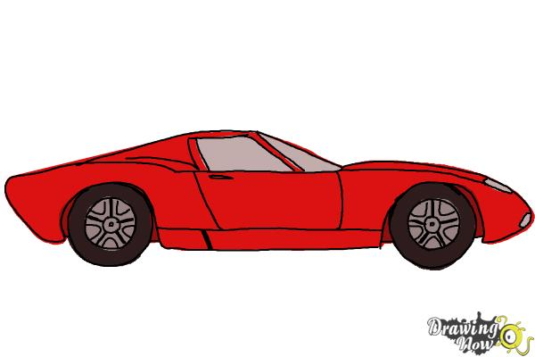 How to Draw a Sports Car - Step 9