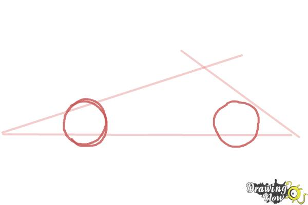 How to Draw a Race Car - Step 2