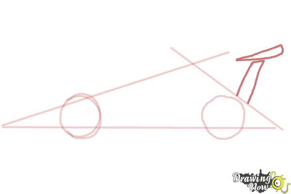 How to Draw a Race Car - Step 3