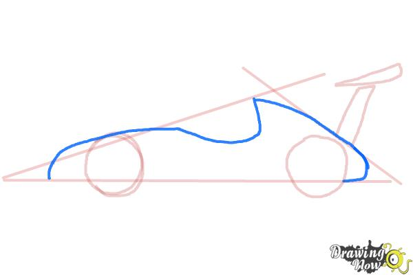 How to Draw a Race Car - Step 4