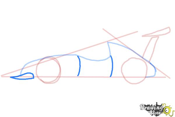 How to Draw a Race Car - Step 5