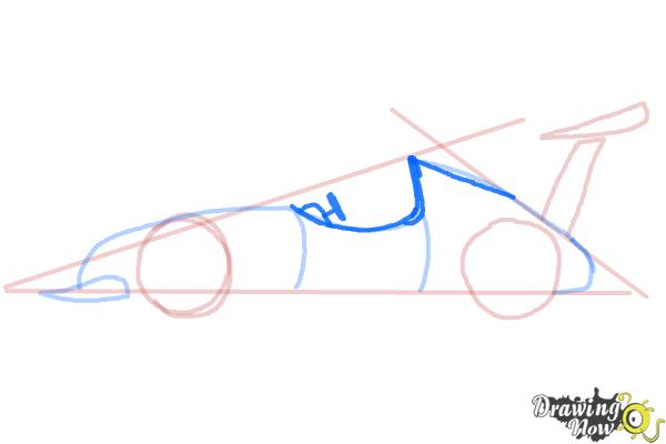 How to Draw a Race Car - Step 6