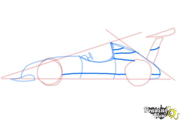 How to Draw a Race Car - Step 7