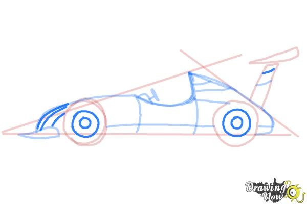 How to Draw a Race Car - Step 8