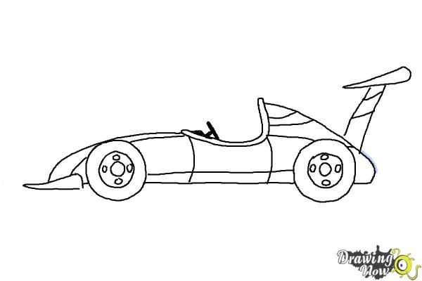 How to Draw a Race Car - Step 9