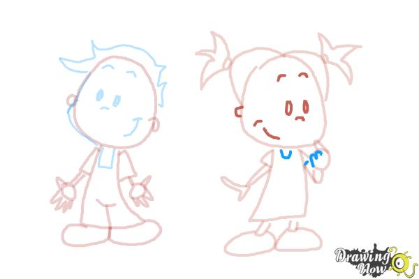 How to Draw Children - Step 10