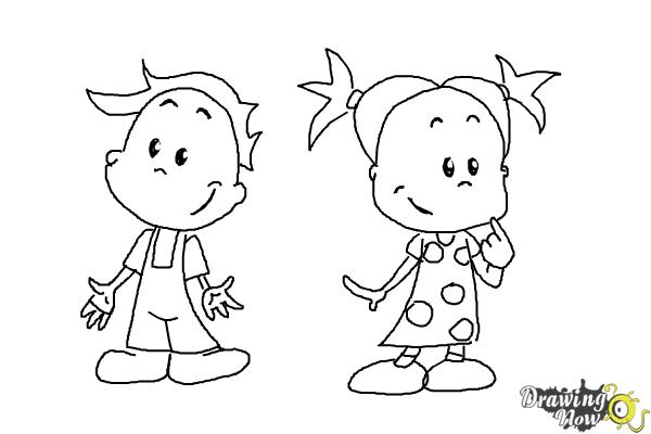 How to Draw Children - Step 11