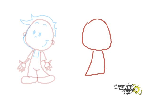 How to Draw Children - Step 6
