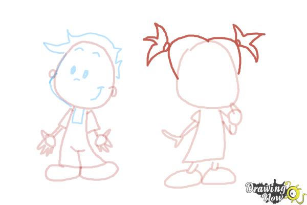 How to Draw Children - Step 9