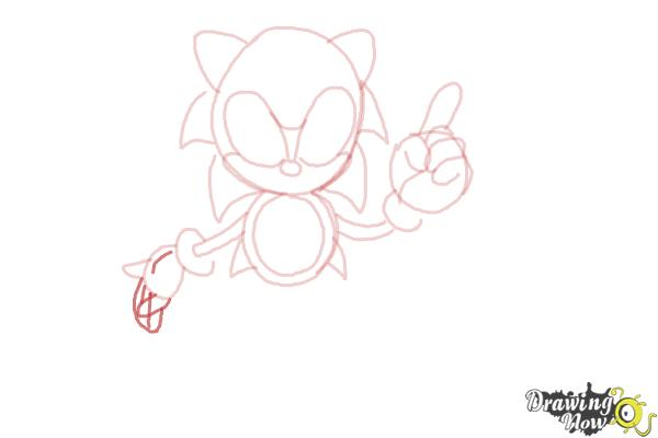 How to Draw Classic Sonic - Step 10