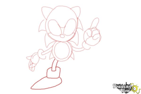 How to Draw Classic Sonic - Step 11