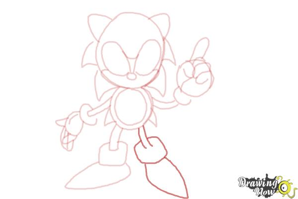 How to Draw Classic Sonic - Step 12