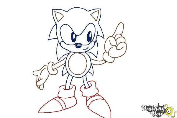 How to Draw Classic Sonic - Step 14