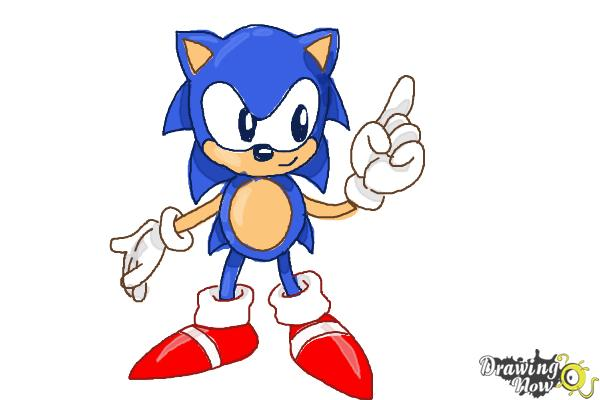 How to Draw Classic Sonic - Step 15