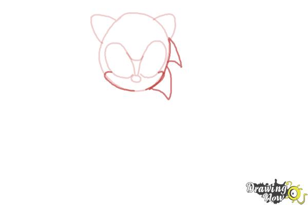 How to Draw Classic Sonic - Step 4