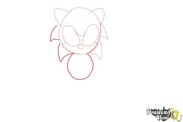 How to Draw Classic Sonic - Step 5