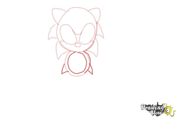 How to Draw Classic Sonic - Step 6