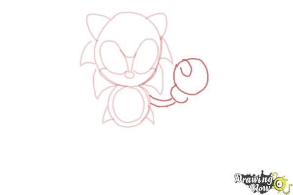 How to Draw Classic Sonic - Step 7