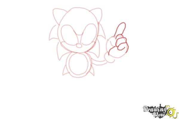 How to Draw Classic Sonic - Step 8