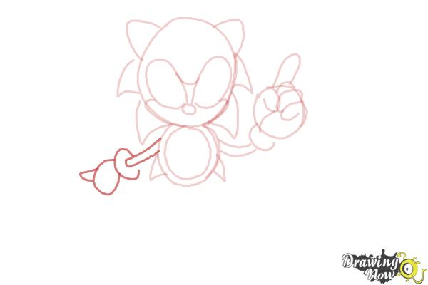 How to Draw Classic Sonic - Step 9