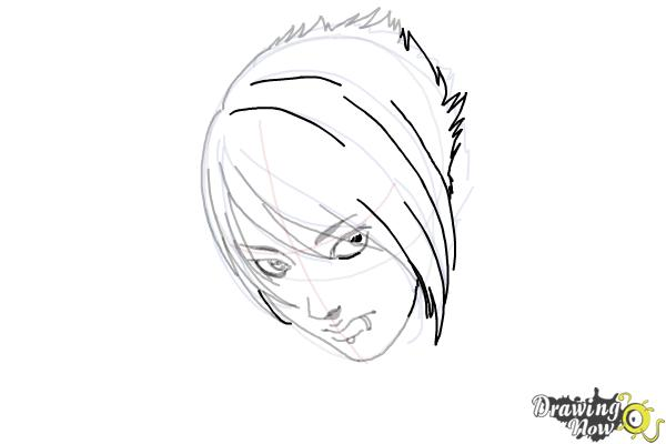 How to Draw an Emo Boy - Step 10