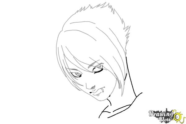 How to Draw an Emo Boy - Step 11