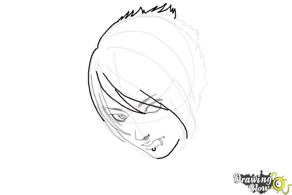 How to Draw an Emo Boy - Step 9