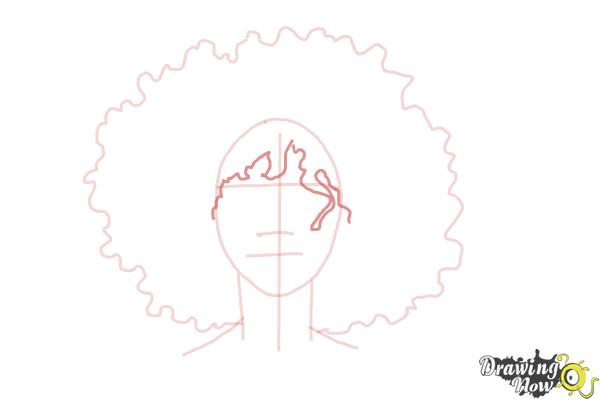 How to Draw African American Hair - Step 4