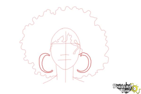 How to Draw African American Hair - Step 5