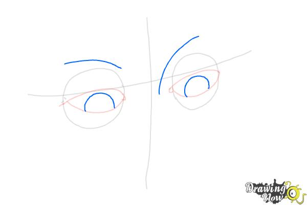 How to Draw Eyes Looking Down - Step 4