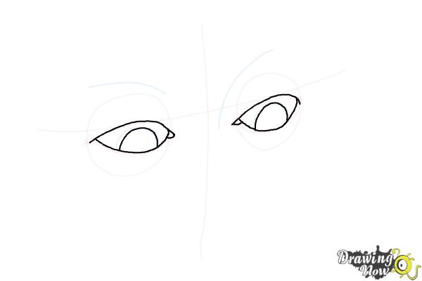 How to Draw Eyes Looking Down - Step 5
