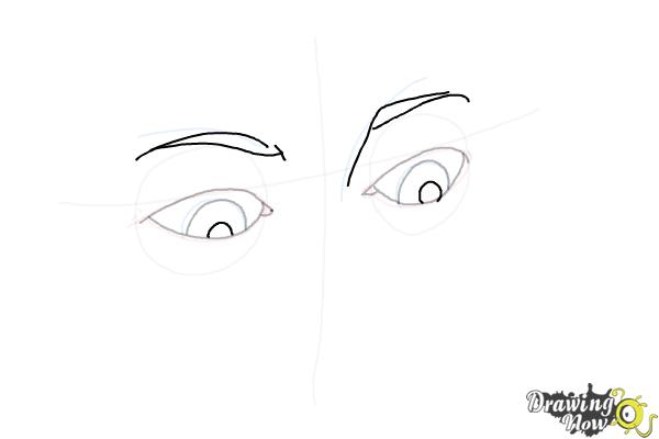How to Draw Eyes Looking Down - Step 6