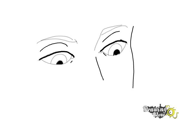 How to Draw Eyes Looking Down - Step 7