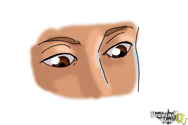 How to Draw Eyes Looking Down - Step 8