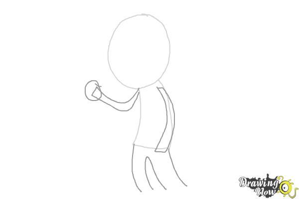 How to Draw Liam Payne Cartoon - Step 2
